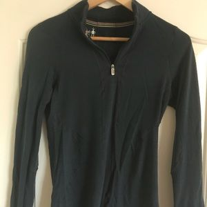 Smartwool Midweight 3/4 Zip Long sleeve tech shirt